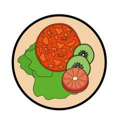 delicious salad food vector image