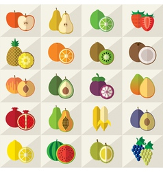 Fruits Sweets Icons Set vector image