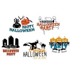 Halloween themes set vector image