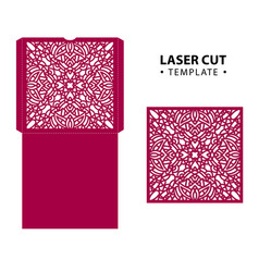 laser cut envelope card temlate with vector image