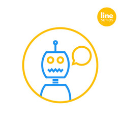robot icon linear style vector image vector image