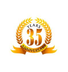 35 years ribbon anniversary vector image