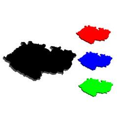 3d map of czech republic vector image