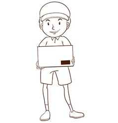 A plain sketch of a postman vector