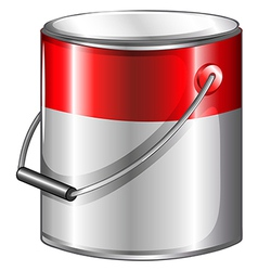 A tin of paint vector image