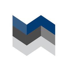 abstract building graphic arrow logo icon vector image
