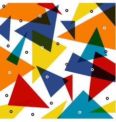abstract colorful triangle pattern overlap with vector image