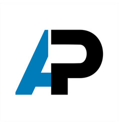 ap initial letter company logo and icon vector image