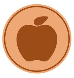 apple bronze coin vector image