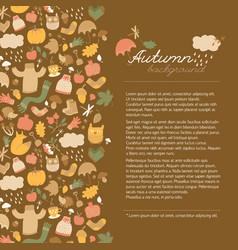 Autumn doodle style concept vector