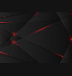 Black abstract background with geometric pattern vector