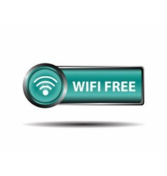 Blue Icon WiFi Free Sign Isolate vector image