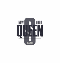 bronx new york city lettering t-shirt vector image