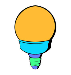 Bulb icon cartoon vector