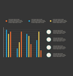 Business infographic graphic colorful design vector