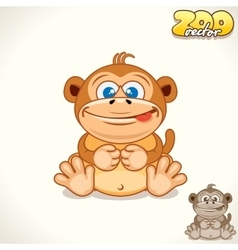 Cartoon Monkey Character vector image