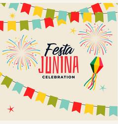 Celebration background for festa junina festival vector
