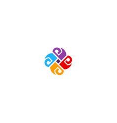 circle shape colorful ornament logo vector image