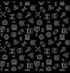 Cloning concept dark outline seamless vector