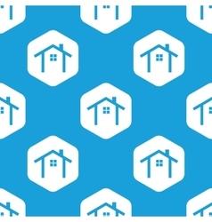 Cottage hexagon pattern vector