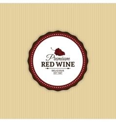 Delicious Wine Label vector