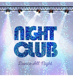 Disco background night club vector image