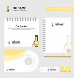 drink bottle logo calendar template cd cover vector image