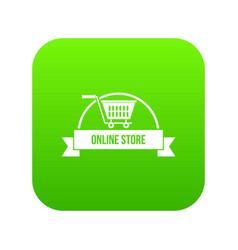 e business icon green vector image