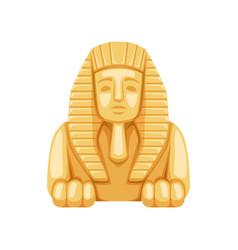 Egyptian sphinx statue symbol ancient egypt vector