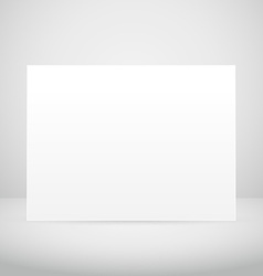 empty picture frame in white room vector image