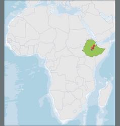 Federal democratic republic ethiopia location vector
