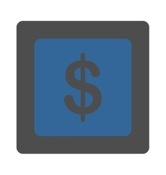 Finance Icon from Commerce Buttons OverColor Set vector image