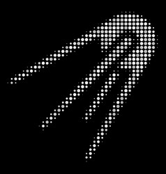 First satellite halftone icon vector