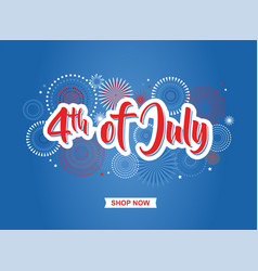 fourth of july 4th of july holiday banner usa vector image