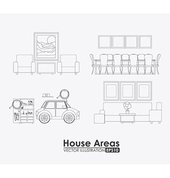 Furniture design vector
