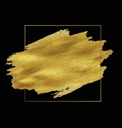 golden blob with frame and black background vector image