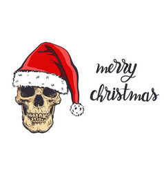 graphical skull in new years hat vector image
