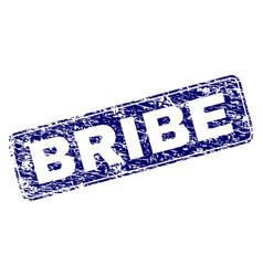 grunge bribe framed rounded rectangle stamp vector image