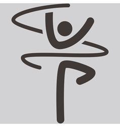 Gymnastics Rhythmic icon vector image