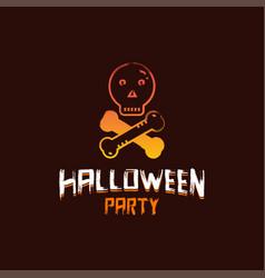 halloween party design with dark brown background vector image