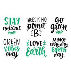 hand drawn ecology lettering eco friendly poster vector image