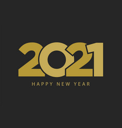 happy 2021 new year concept design christmas vector image