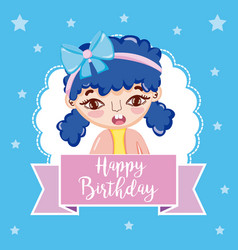 happy birthday girl vector image