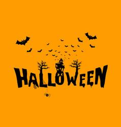 happy halloween typography scary horror vector image