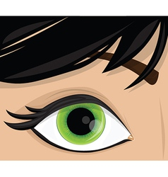 Human eye cartoon vector