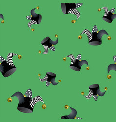 Jester hat seamless pattern vector