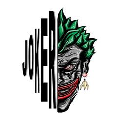 Joker smiling face vector