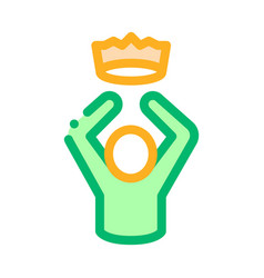 king crown human talent icon vector image