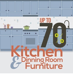Kitchen Room Sale Up to 70 Percent Banner vector image