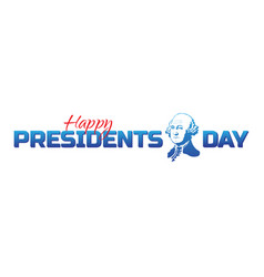 label logo or banner to happy presidents day vector image